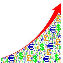 график роста валют