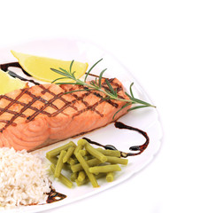 Salmon Fillet with Risotto.