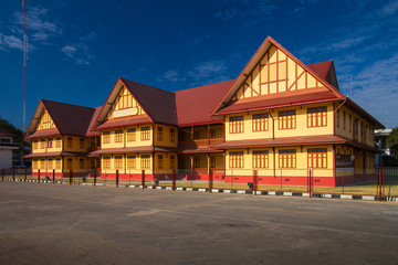 The old school building. Ubon Ratchathani in Thailand