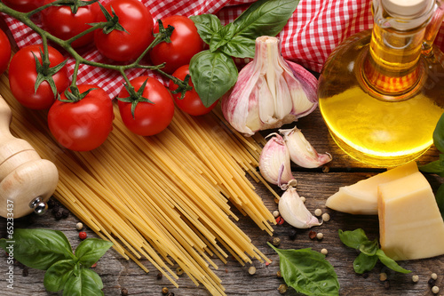 Poster, Tablou Italian food ingredients