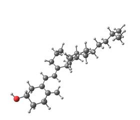 Cholecalciferol (D) molecular structure on white background
