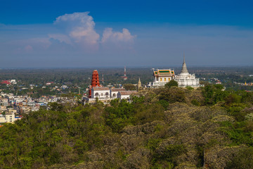 Temple on mountain top at Khao Wang Palace, Petchaburi, Thailand