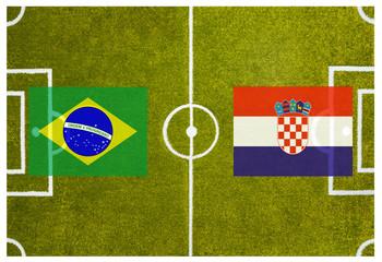 Eröffnungsspiel Fußball Weltmeisterschaft 2014 Brasilien
