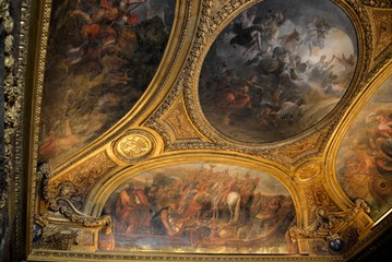 Painted ceiling in Versailles