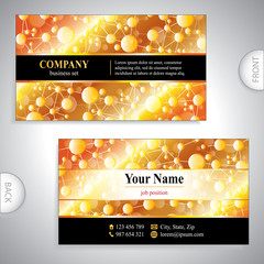 Universal luxury gold business card