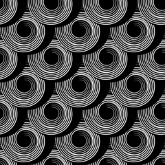 Seamless pattern with circle spiral elements.