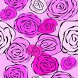 Seamless vintage romantic floral pattern pink roses