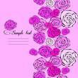 Seamless vintage romantic floral pattern pink roses invitation