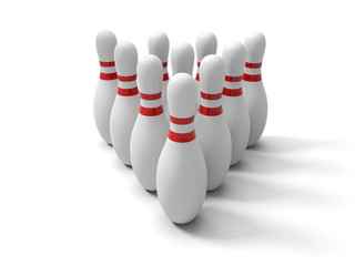 Group of Bowling Pins