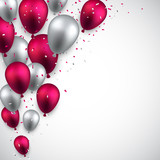 Fototapety Celebrate background with balloons.