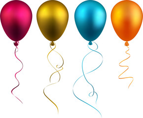 Set of realistic balloons.