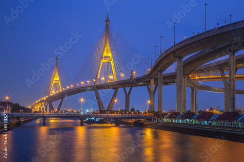 Industry Circle bridge, Bangkok, Thailand
