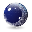 The night and moon in glass ball & crystal ball