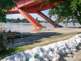 protection of the coast from the river Sava in Belgrade