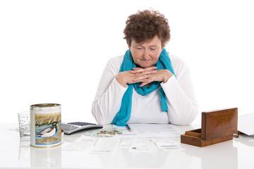 Geld Konzept: ältere Menschen mit geringer Rente