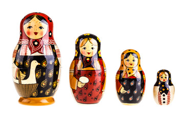 Matryoshka dolls family