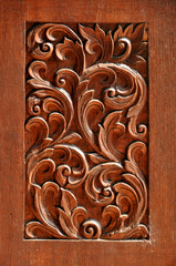 Texture of carved wood