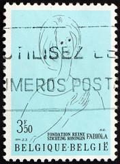 Postage stamp Belgium 1970 Queen Fabiola