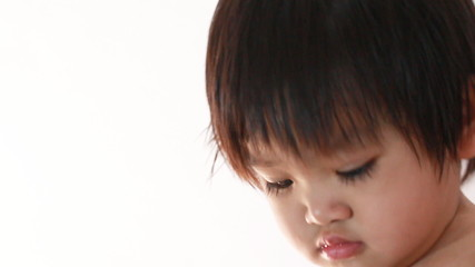 Closeup asian baby