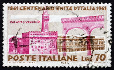 Postage stamp Italy 1961 Palazzo Vecchio, Florence
