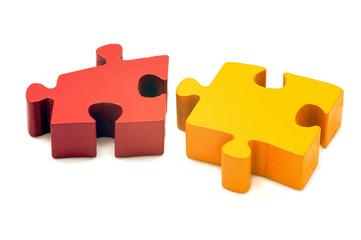 Cooperation concept Turkish isbirligi jigsaw puzzle isolated
