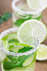Drink of lime and mint