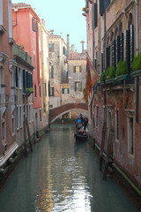 Venice Canals and Gondola. European City