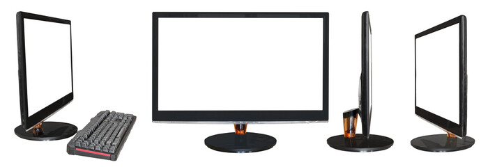 widescreen black displays with cutout screen