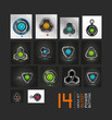Mega collection of power buttons - vector icons