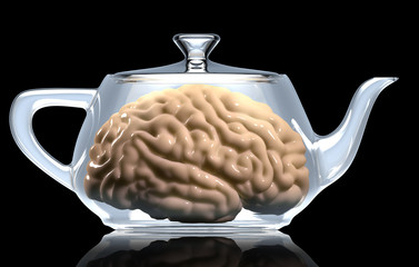 Human Brain in teapot