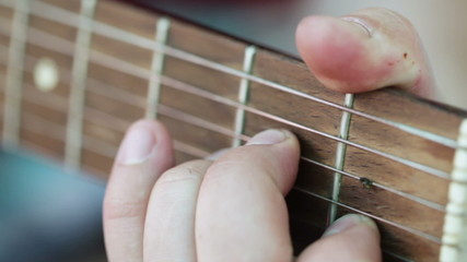 Fingers on frets