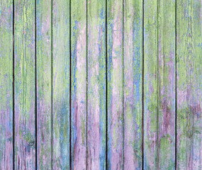 Texture of old wooden colored plank as background