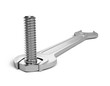 Spanner with bolt