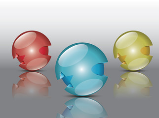 Round colorful sphere