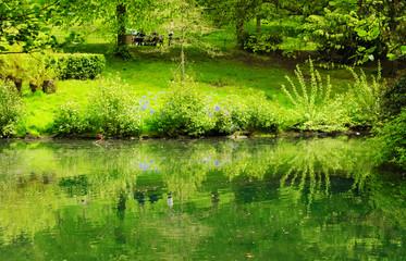 Spring in Kelvingrove park in Glasgow