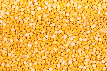 Background of dried yellow pea