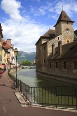 Ancient houses on the channel - Annecy, France