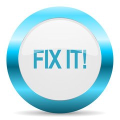 fix it blue glossy icon