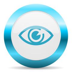 eye blue glossy icon