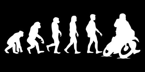 Vom Affen zum (Menschen) Motorrad Fahrer