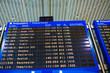 Greece airport, departure board.