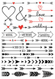 hand-drawn arrows, vector set - 65253631