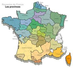 France - Subdivisions du territoire - Provinces
