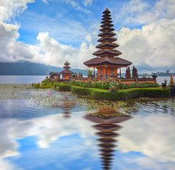 famous temple at beratan lake, Bali