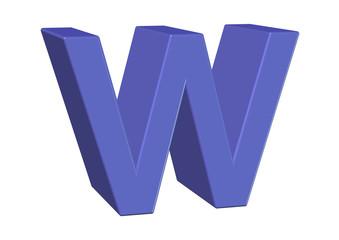 açık mavi w harfi