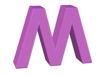 pembe m harfi