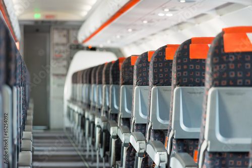 Fotobehang Vliegtuig Modern interior of airplane