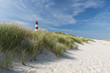 Leinwanddruck Bild - Lighthouse on dune horizontal