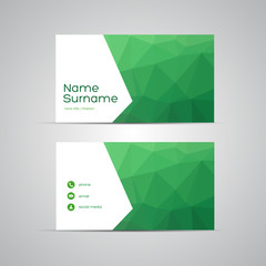 Modern Business-Card Set vector GREEN