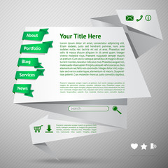 Origami website template